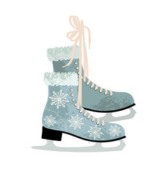 colorful winter figure skates vector image