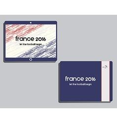 Corporate identity template design France 2016 vector image