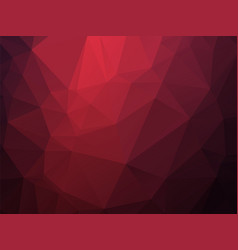 dark red triangles background vector image