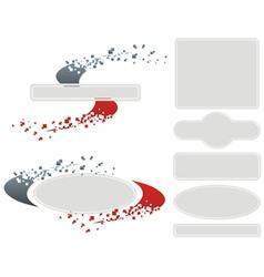 Diffuse Logo Set vector image