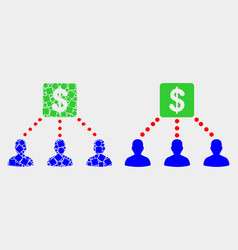 Dot and flat financial clients links icon vector