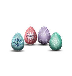 Eggs for happy easter day different texture vector