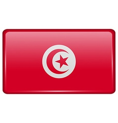 Flags Tunisia in the form of a magnet on vector