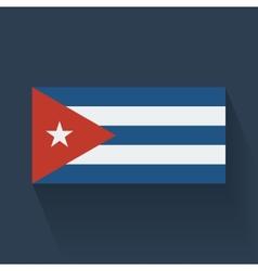 Flat flag of Cuba vector