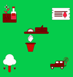 Flat icon design collection save the climate vector