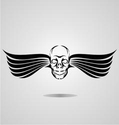 Flying Skull vector