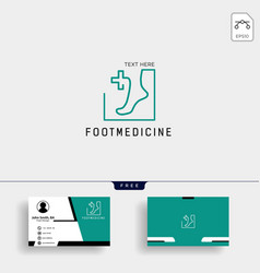 Foot ankle medicine logo template with free vector