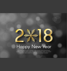 Golden new year 2018 concept on black blurry vector