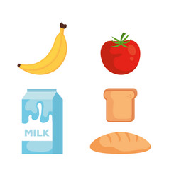 group of food products vector image