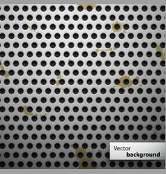 Grunge metal speaker grill seamless pattern vector image