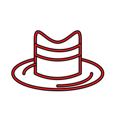 Hat cap perfect icon or pigtogram in filled style vector