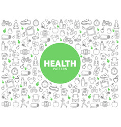 Healthy lifestyle pattern vector