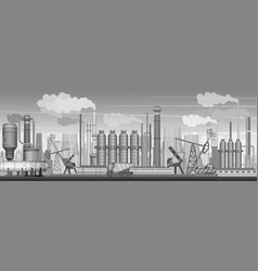 heavy industrial landscape background vector image