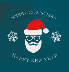 Hipster style christmas greeting card vector