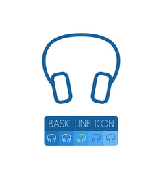 isolated headphone outline earmuff element vector image