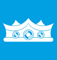 king crown icon white vector image
