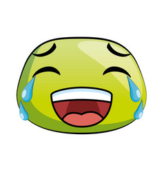 laugh emoji face icon vector image