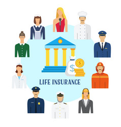 life insurance flat vector image