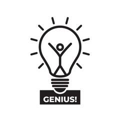 light symbols ideas genius creative thinking vector image