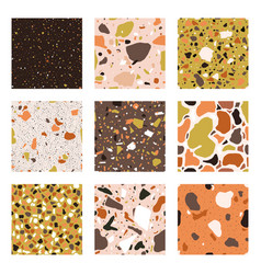 marble chips seamless patterns granite vector image