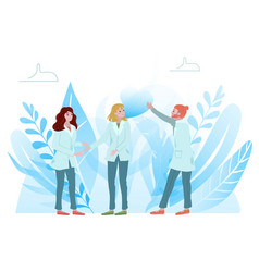 medical doctors communication team doctors vector image