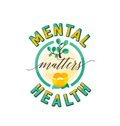 Mental health matters vector