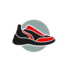 Modern sneaker shoe logo vector