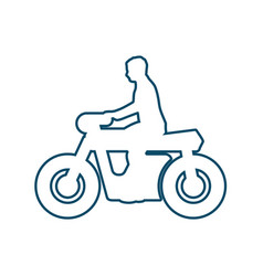 motorcycle rider silhouette vector image