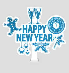 new year sticker vector image