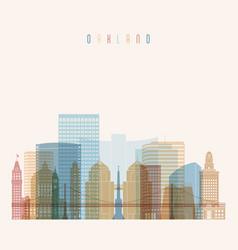 Oakland state california skyline detailed vector