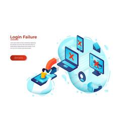 Online service access error vector