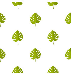 palm leaf pattern seamless vector image
