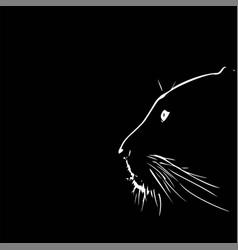 panther walking from dark logo design vector image