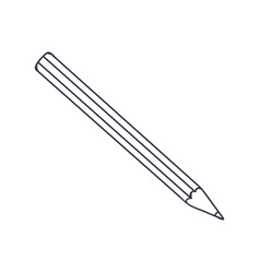 pencil doodle style black and white vector image