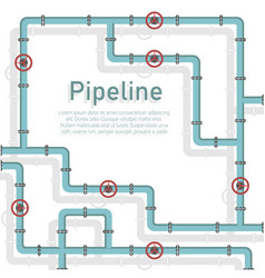 Pipeline design background vector