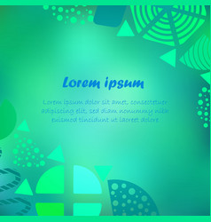 poster with blurred background and abstract vector image
