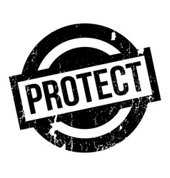 protect rubber stamp vector image
