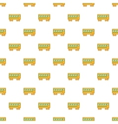 Rail car pattern cartoon style vector image