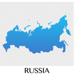 Russia map in europe continent design vector