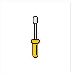 Screwdriver icon simple black icon on white vector