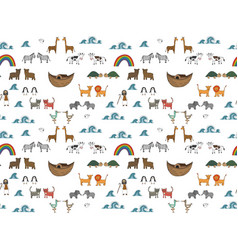 Seamless pattern with noahs ark concept vector