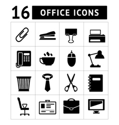 Set icons of office vector