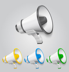 set megaphone color vector image
