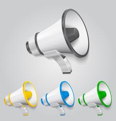 Set megaphone color vector