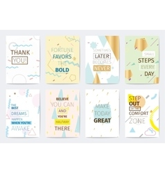 Set of cards with inspirational quotes vector