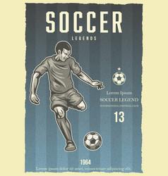 soccer vintage poster vector image