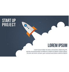 Start up project concept business infographic vector