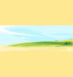 sunny lawn landscape bachground vector image
