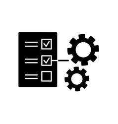 Technical task black glyph icon vector