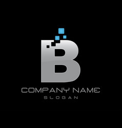 techno letter b vector image